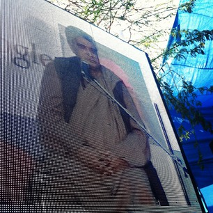 Javed Akhtar on the monitor