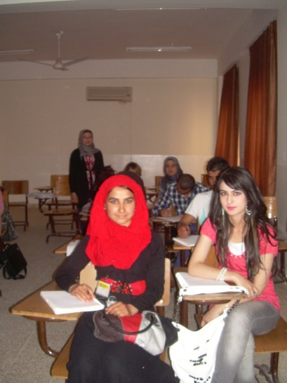 Another class of English literature, again wonderful images of Hijabi Chic!