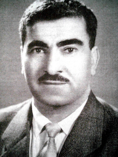 A Portrait of Mustapha Barzani similar to the one at the Career fair. He is described by one official to me as the