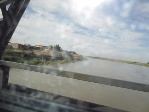 Driving by a tributary of the Tigris River on our way to Dohuk. The serene countryside belies the news of violence in Southern Iraq