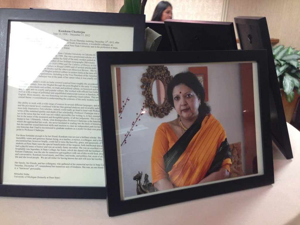 Memorial for Kumkum Chatterjee at Madison South Asia Conference 2013