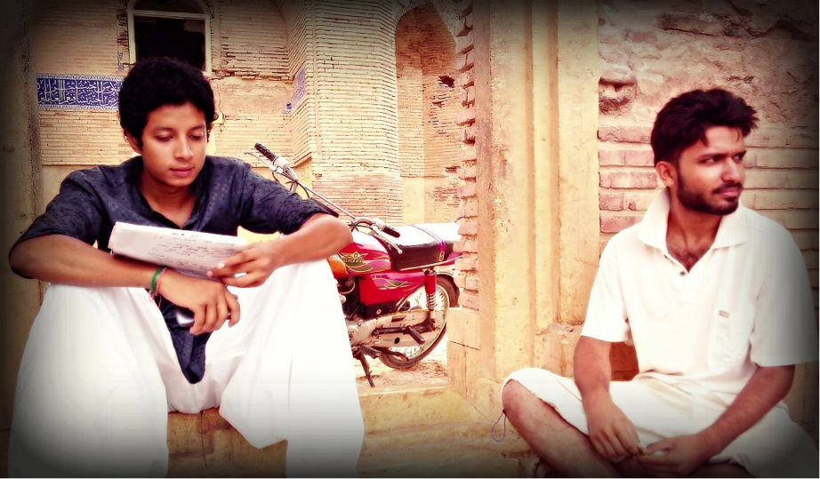 Shahzad Meer (right), who goes by Rapper Meer Janweri, with fellow Thatta artist Wahab Rocx